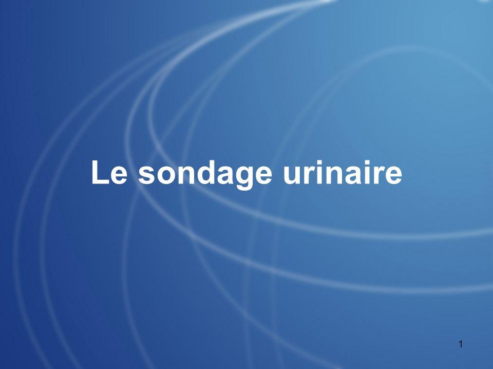 1 Le sondage urinaire