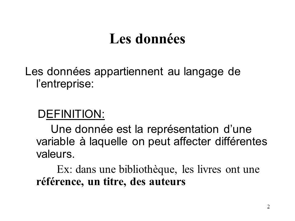 13 Lidentifiant Deux occurrences dune entité type sont distinguées par la valeur dune propriété, appelée : identifiant ( obligatoire ) Exemples: no-insee (..