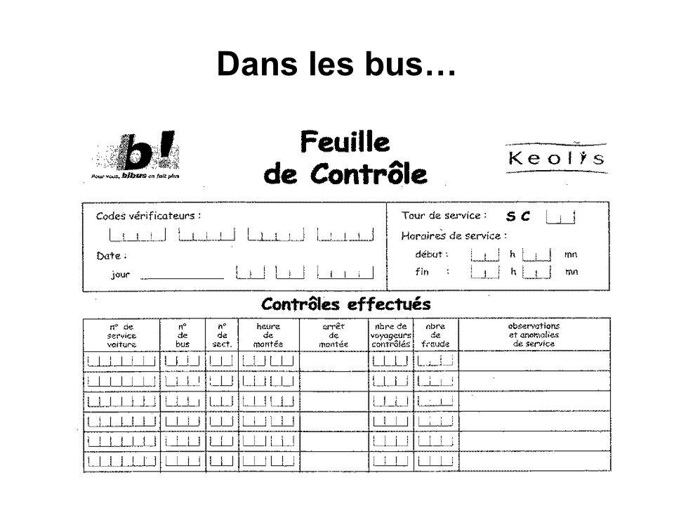 Dans les bus…