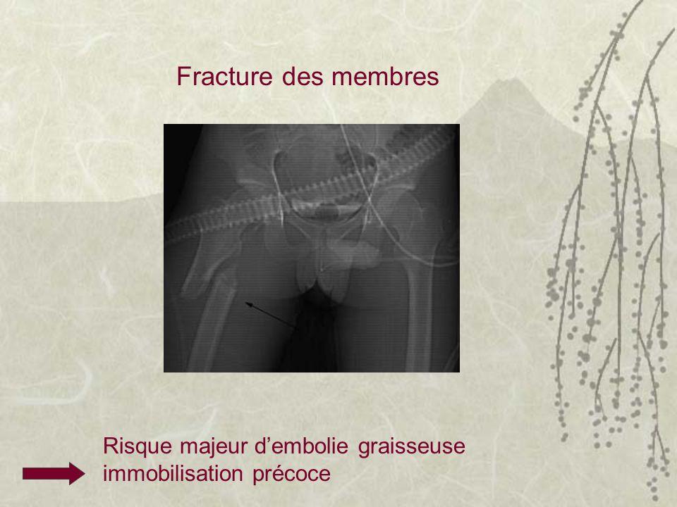 Fracture des membres Risque majeur dembolie graisseuse immobilisation précoce