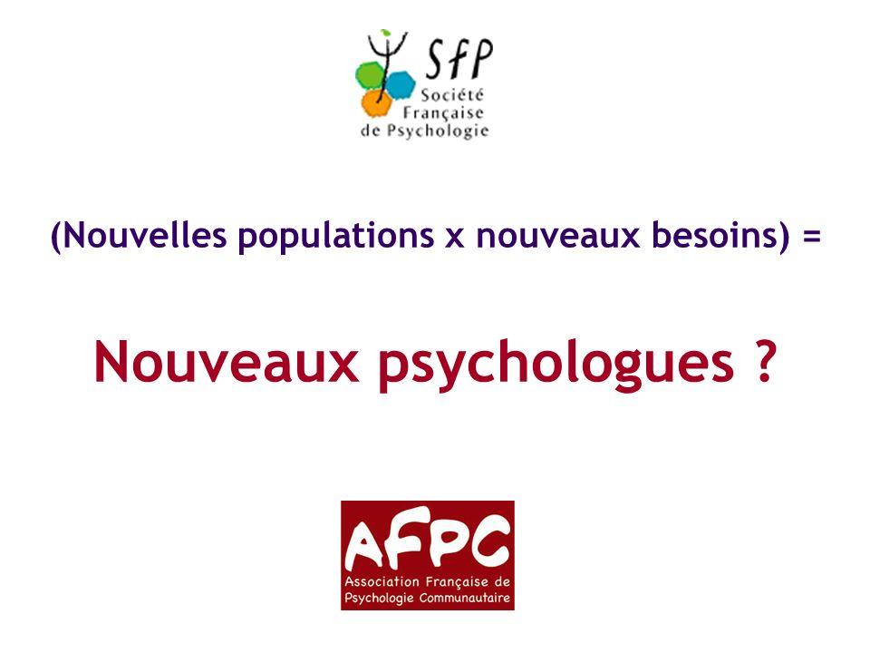 La psychologie communautaire : cadre et concepts-clés Nouvelles populations, nouveaux besoins… Nouveaux psychologues .