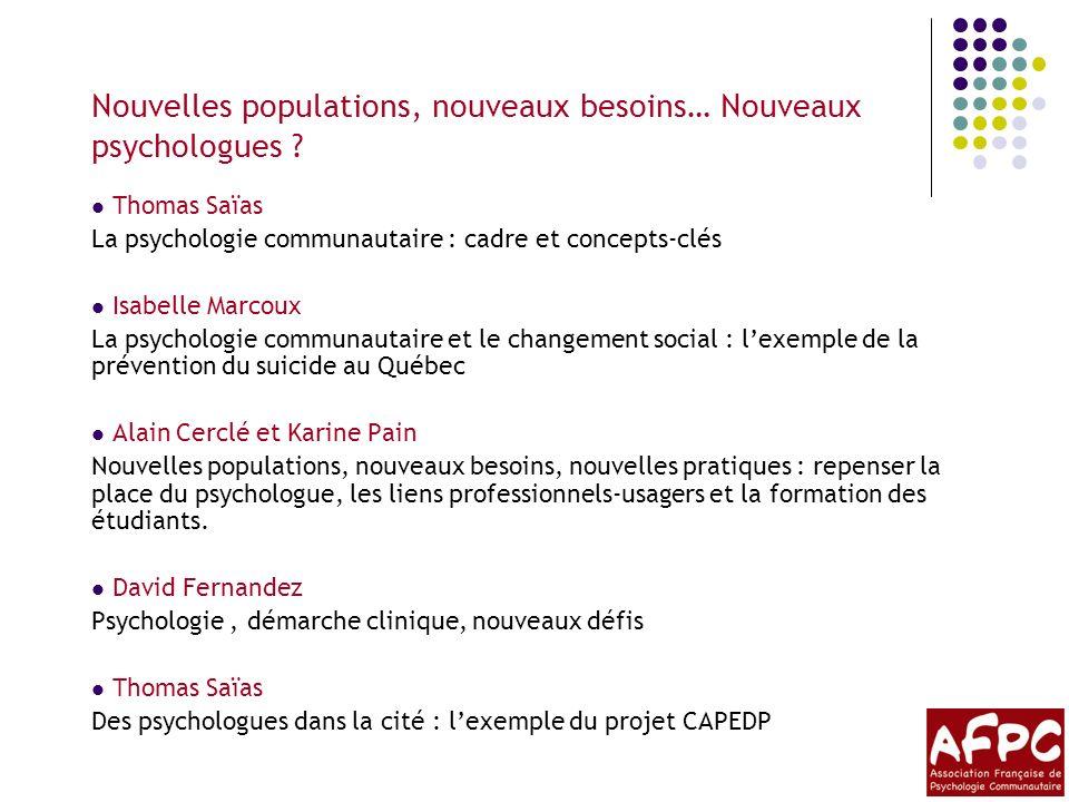 La psychologie communautaire : cadre et concepts-clés Lassociation http://afpc.asso.free.fr/