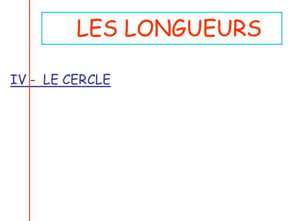 LES LONGUEURS IV - LE CERCLE