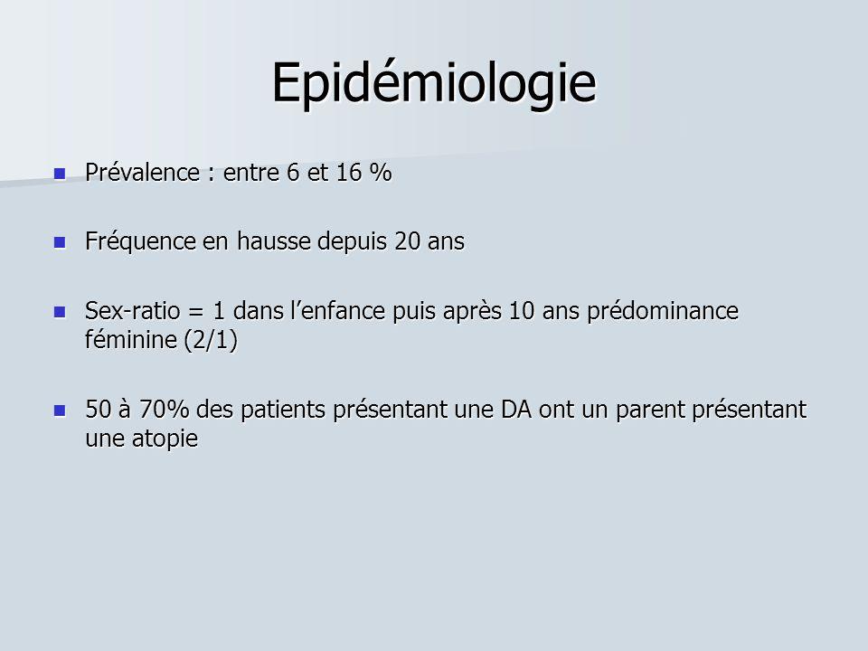 Epidémiologie Prévalence : entre 6 et 16 % Prévalence : entre 6 et 16 % Fréquence en hausse depuis 20 ans Fréquence en hausse depuis 20 ans Sex-ratio