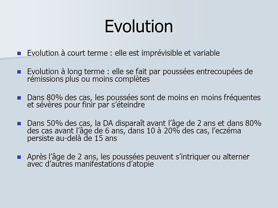 Evolution Evolution à court terme : elle est imprévisible et variable Evolution à court terme : elle est imprévisible et variable Evolution à long ter