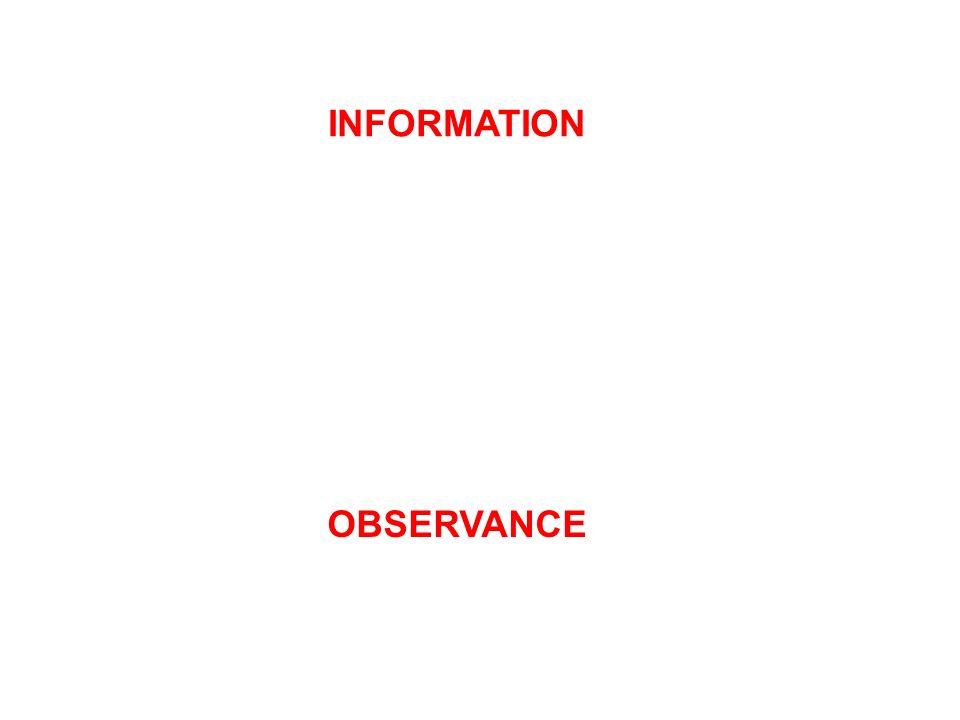 INFORMATION OBSERVANCE