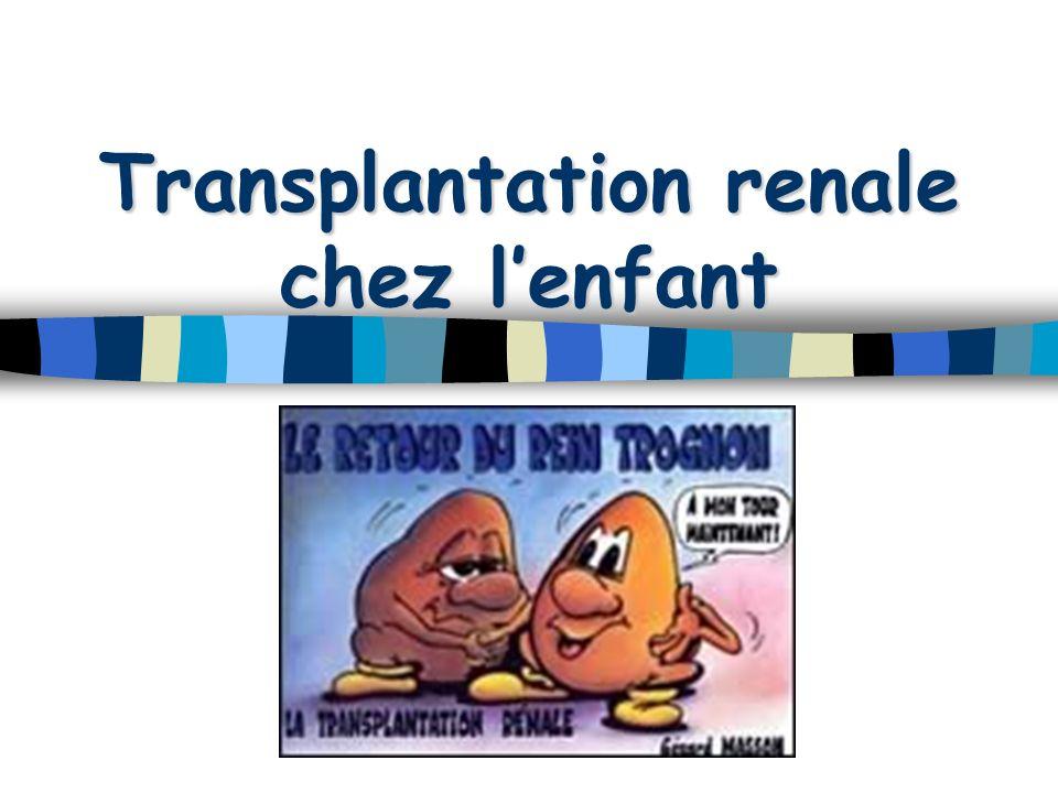 Transplantation renale chez lenfant