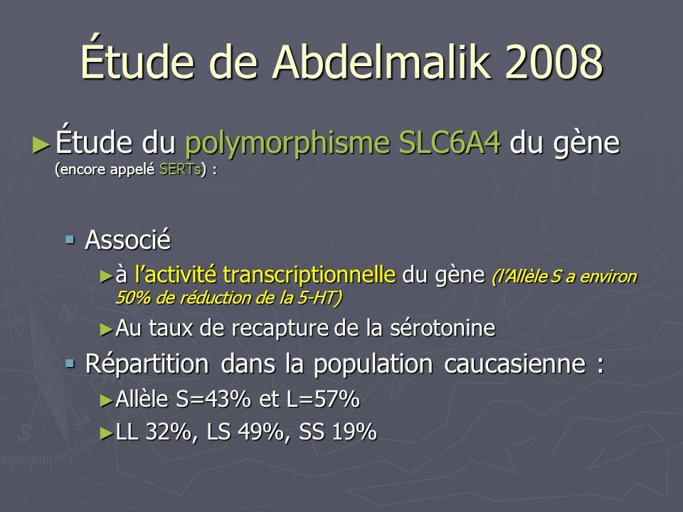 Étude du polymorphisme SLC6A4 du gène (encore appelé SERTs) : Étude du polymorphisme SLC6A4 du gène (encore appelé SERTs) : Associé Associé à lactivit