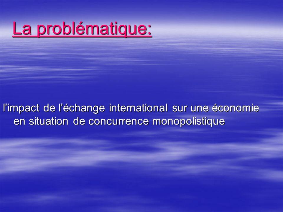 limpact de léchange international sur une économie en situation de concurrence monopolistique La problématique: