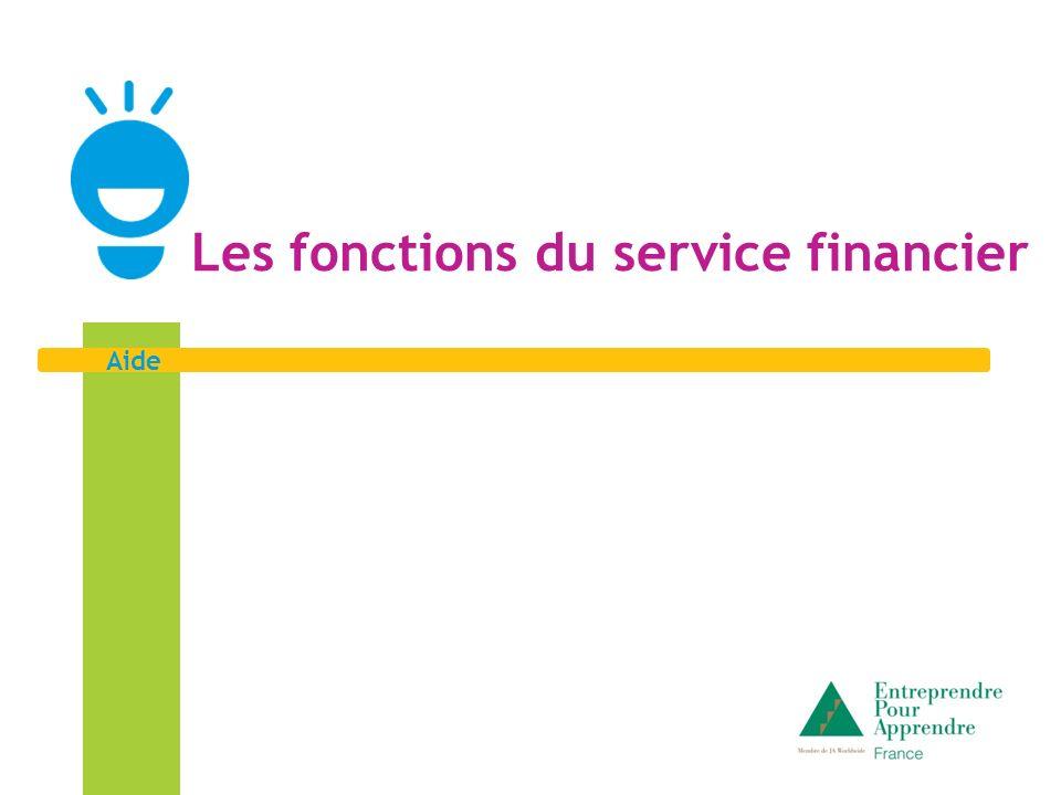Aide Les fonctions du service financier