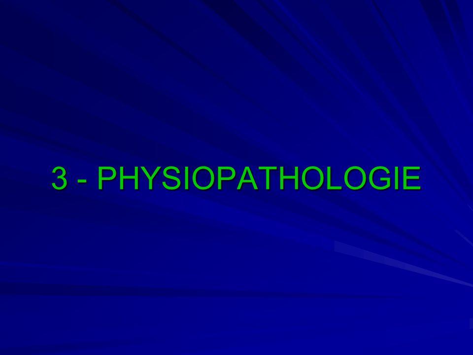 3 - PHYSIOPATHOLOGIE