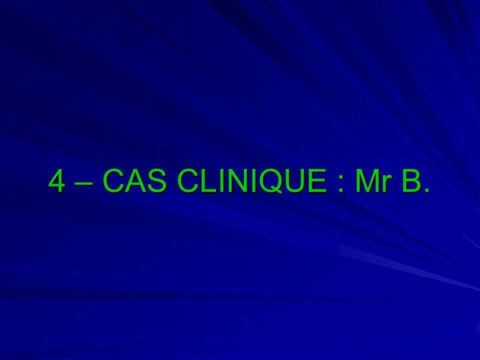 4 – CAS CLINIQUE : Mr B.