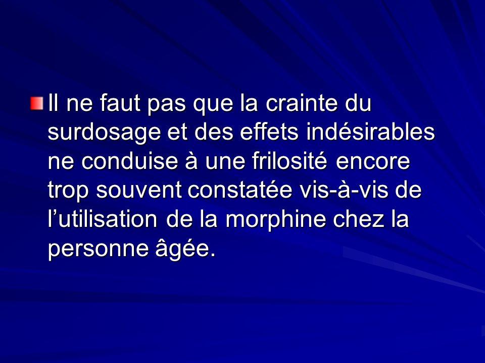 Il ne faut pas que la crainte du surdosage et des effets indésirables ne conduise à une frilosité encore trop souvent constatée vis-à-vis de lutilisat