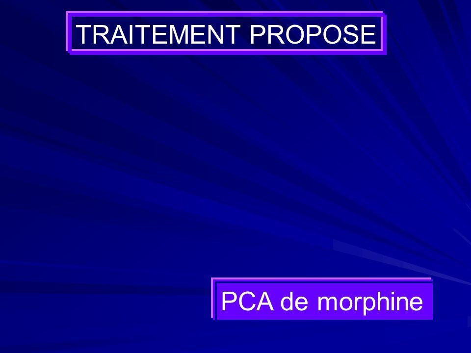 TRAITEMENT PROPOSE PCA de morphine