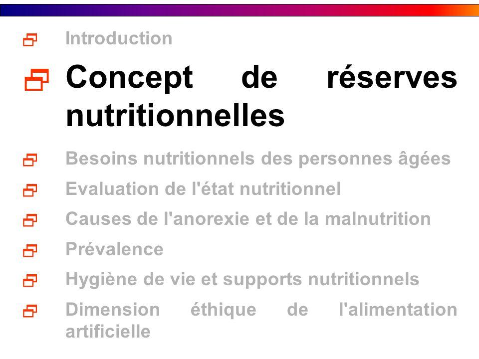 CONCEPT DE RESERVES NUTRITIONNELLES Le muscle sert de réserve de protéines et d acides aminés nécessaires à la synthèse des protéines.