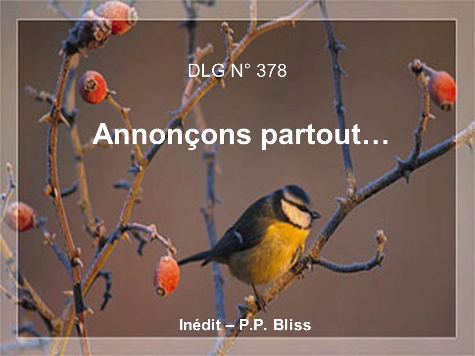 DLG N° 378 Annonçons partout… Inédit – P.P. Bliss