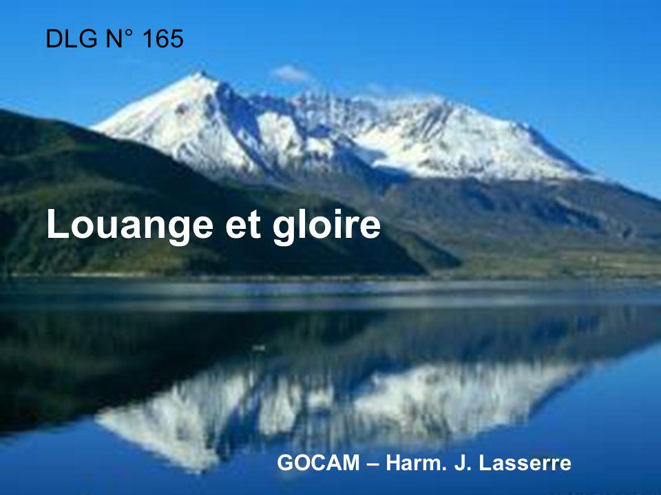 DLG N° 165 Louange et gloire GOCAM – Harm. J. Lasserre