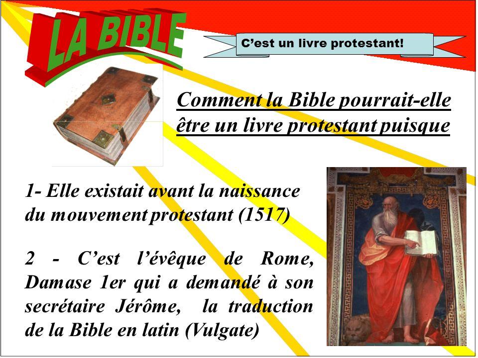 Réfutation 2 Cest un livre protestant, les catholiques ne doivent pas la lire