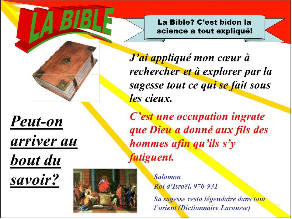 Anduze 7.1 La Bible.Cest bidon la science a tout expliqué.