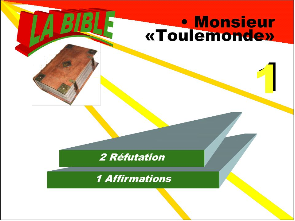 Monsieur «Toulemonde» 1 Affirmations 2 Réfutation 1 1