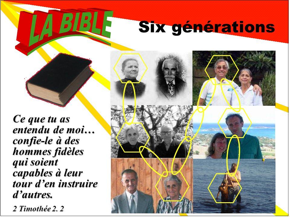 2 Une vraie « bible de famille » Six générations ont déjà connu cette Bible achetée en 1885 par mon arrière grand- mère