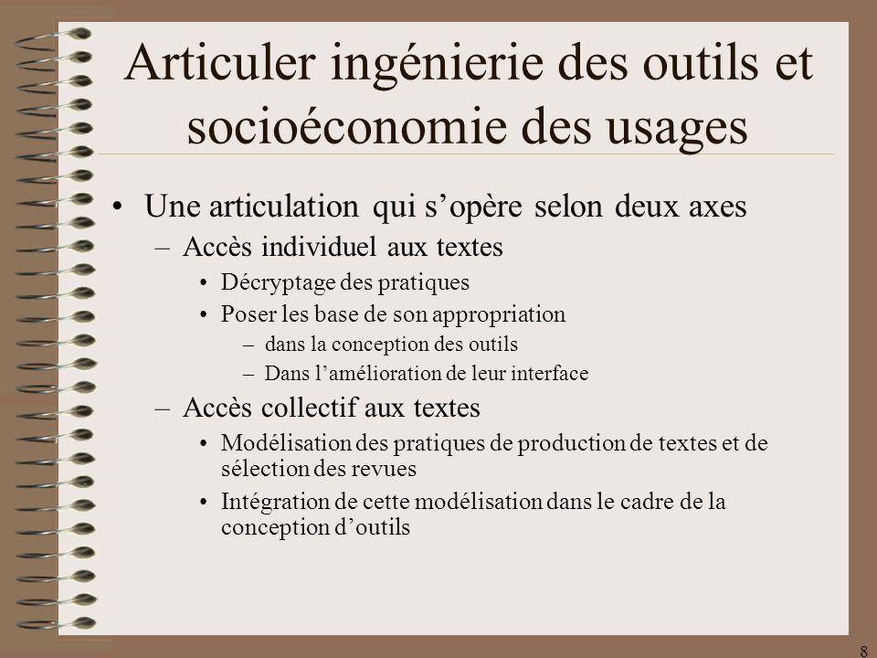 39 Outil dassistance à lanimation scientifique dune revue Une étude dusage et des observations sur une longue période.