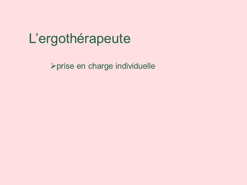 Lergothérapeute prise en charge individuelle