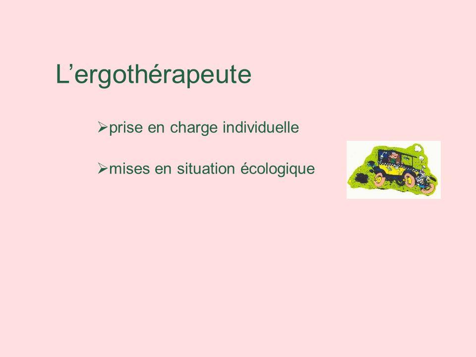 Lergothérapeute prise en charge individuelle mises en situation écologique