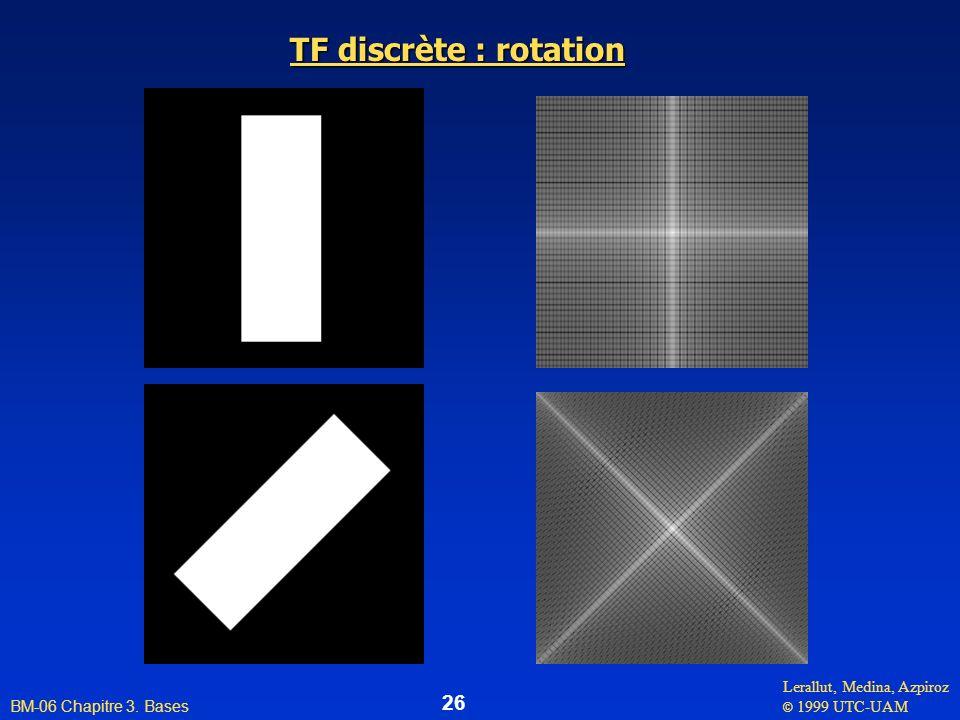 Lerallut, Medina, Azpiroz © 1999 UTC-UAM BM-06 Chapitre 3. Bases 26 TF discrète : rotation