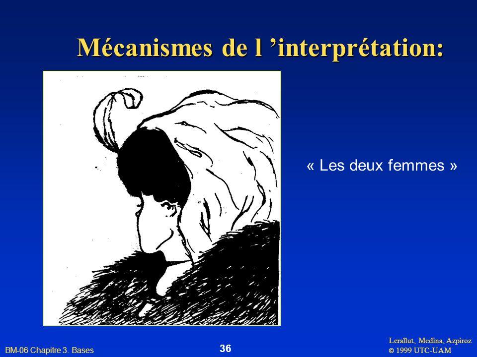 Lerallut, Medina, Azpiroz © 1999 UTC-UAM BM-06 Chapitre 3. Bases 36 Mécanismes de l interprétation: « Les deux femmes »