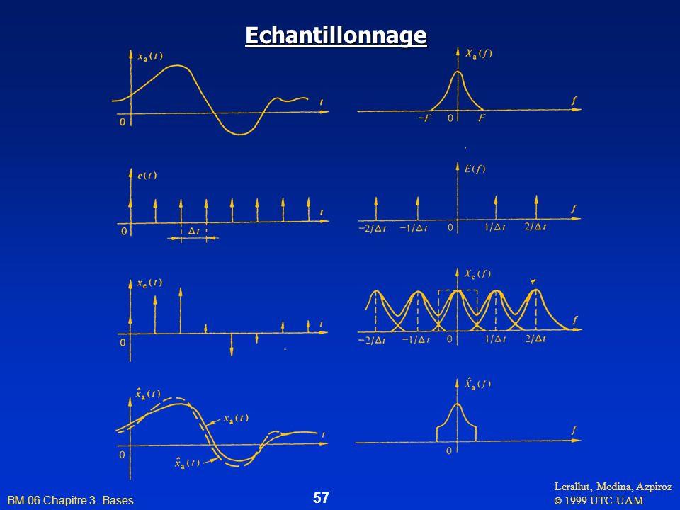 Lerallut, Medina, Azpiroz © 1999 UTC-UAM BM-06 Chapitre 3. Bases 57 Echantillonnage
