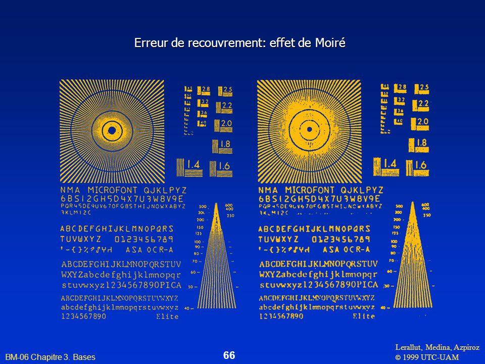 Lerallut, Medina, Azpiroz © 1999 UTC-UAM BM-06 Chapitre 3. Bases 66 Erreur de recouvrement: effet de Moiré