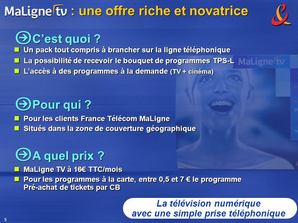 5 Pour qui ? Pour les clients France Télécom MaLigne Situés dans la zone de couverture géographique Pour les clients France Télécom MaLigne Situés dan