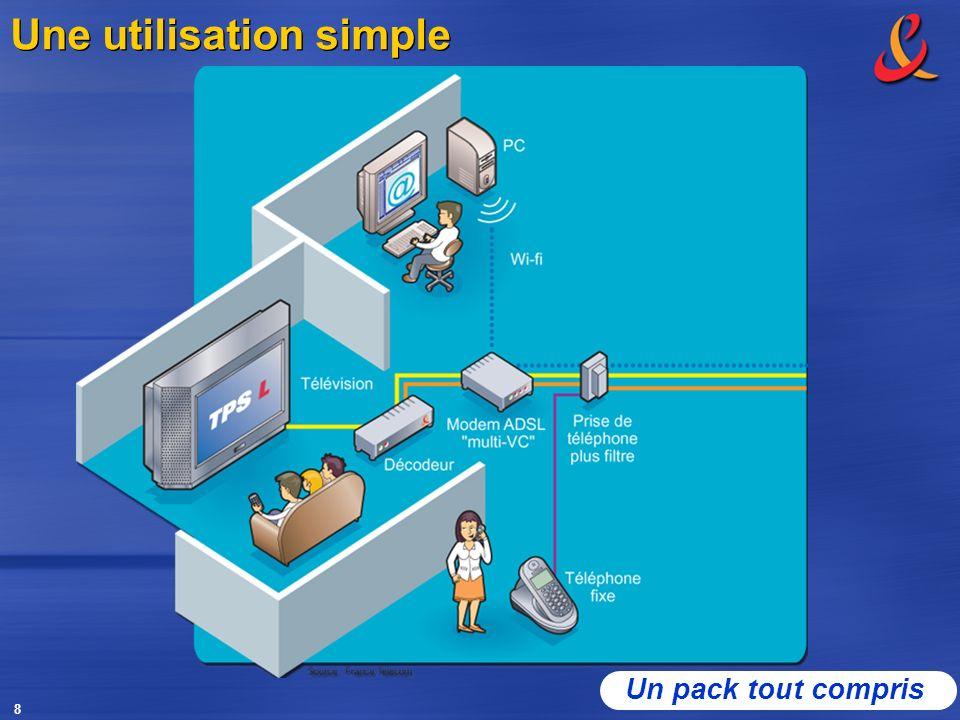 8 Une utilisation simple Un pack tout compris