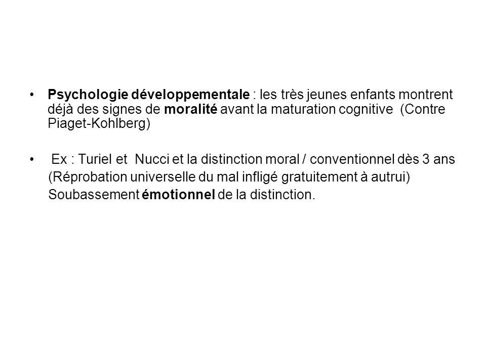 Psychologie développementale : les très jeunes enfants montrent déjà des signes de moralité avant la maturation cognitive (Contre Piaget-Kohlberg) Ex