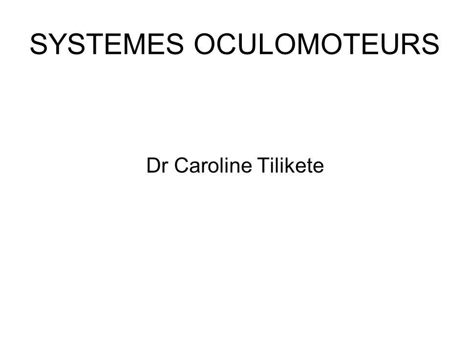 SYSTEMES OCULOMOTEURS Dr Caroline Tilikete