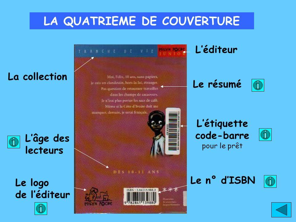 LE NUMERO D I.S.B.N Cest un numéro international qui permet didentifier un livre.
