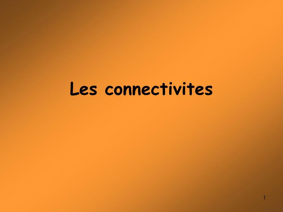 1 Les connectivites