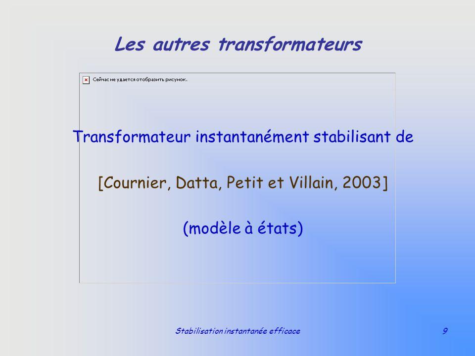 Stabilisation instantanée efficace9 Les autres transformateurs Transformateur instantanément stabilisant de [Cournier, Datta, Petit et Villain, 2003]