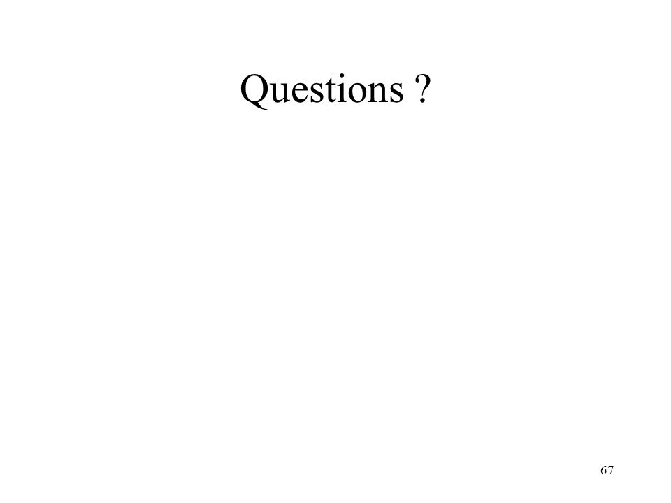 67 Questions ?