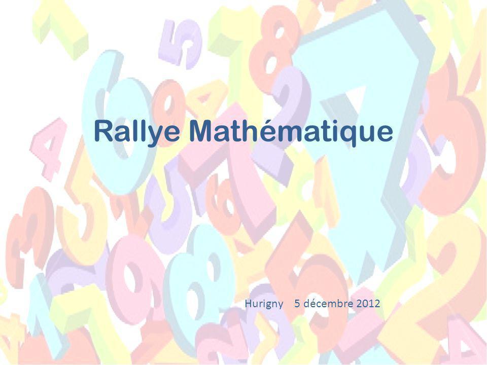 Rallye Mathématique Hurigny 5 décembre 2012