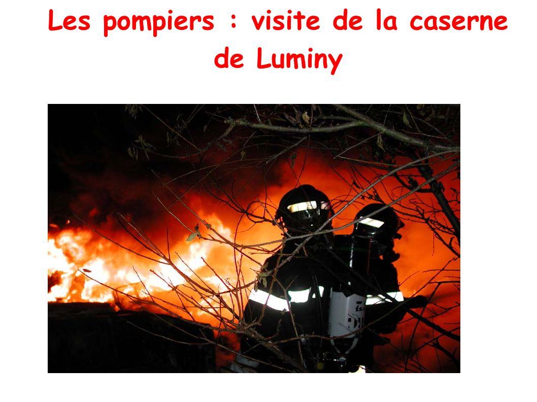 Les pompiers : visite de la caserne de Luminy