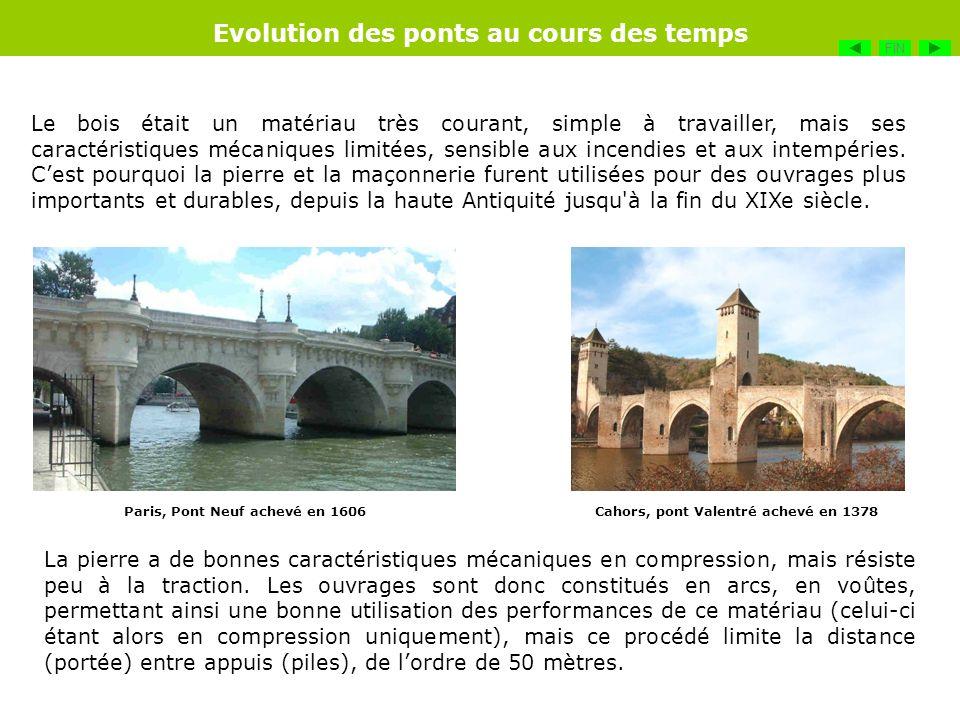Lacier, avec de très bonnes caractéristiques mécaniques et qui fut mis au point vers 1867, va permettre daccroître les performances des ponts et amener des structures beaucoup plus légères.