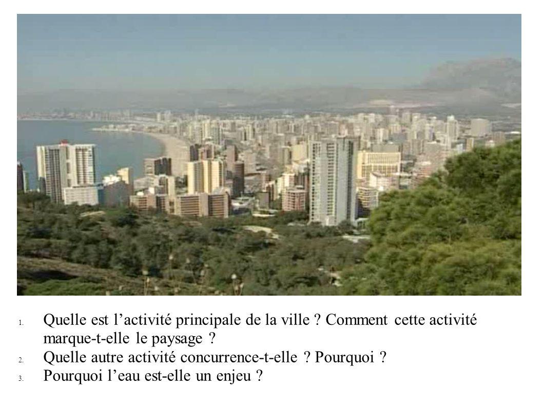 1. Quelle est lactivité principale de la ville ? Comment cette activité marque-t-elle le paysage ? 2. Quelle autre activité concurrence-t-elle ? Pourq