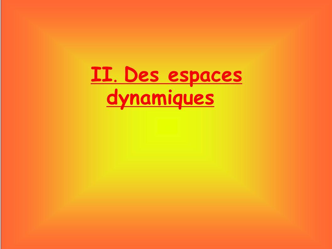 II. Des espaces dynamiques