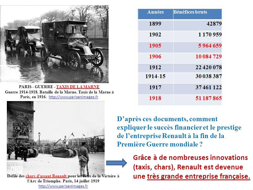 PARIS - GUERRE - TAXIS DE LA MARNE Guerre 1914-1918. Bataille de la Marne. Taxis de la Marne à Paris, en 1916. http://www.parisenimages.fr http://www.