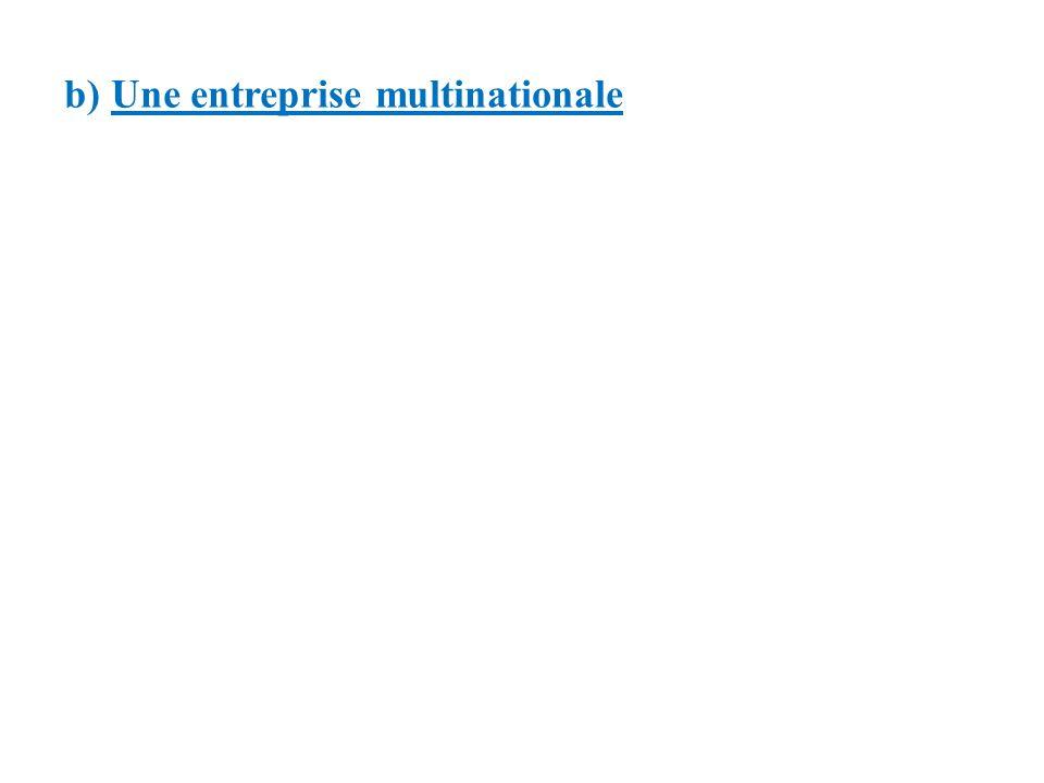 b) Une entreprise multinationale