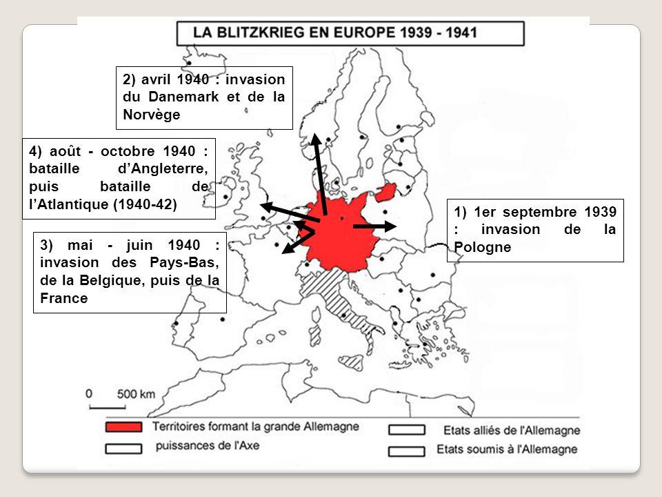 1 1 2 3 2 3 Remilitarisation de la Rhénanie (1936) Anschluss (mars 1938) Annexion des Sudètes (sept.