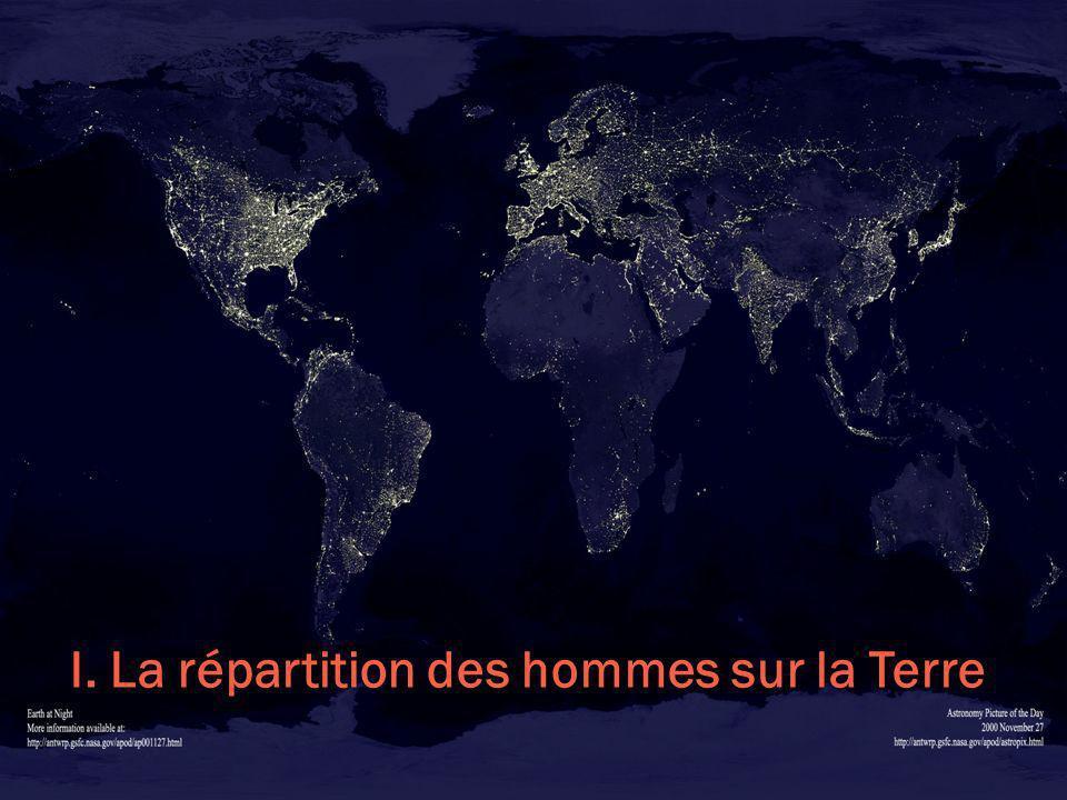 I. La répartition des hommes sur la Terre