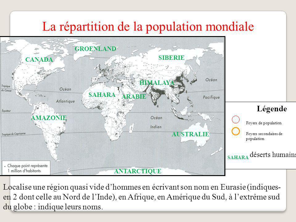 Le Sahara Le Sahara une zone très peu peuplée ou inhabitée.